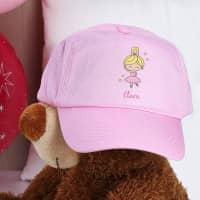 Rosa Kinder-Basecap mit Ballerina Motiv