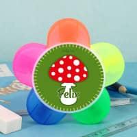 Glückspilz Textmarker mit 5 verschiedenen Farben