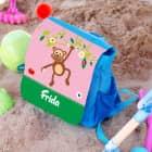 Kindergartenrucksack mit lustigem Affen und Name