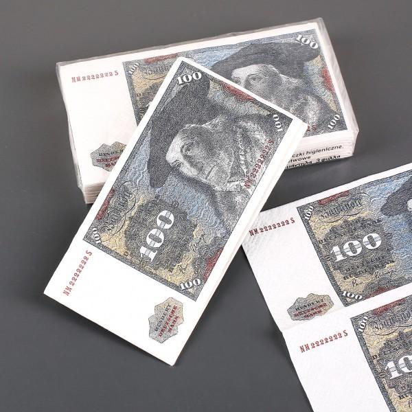 Papiertaschentücher 100 DM Note