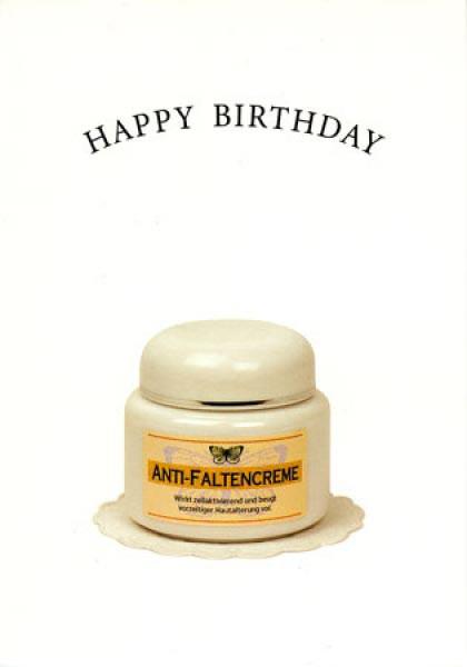 Geburtstagskarte mit Anti-Faltencreme