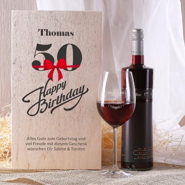 Geschenkset zum 50. Geburtstag