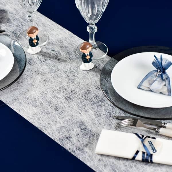 Deko Tischläufer aus Vlies in Weiß 500 cm x 30 cm