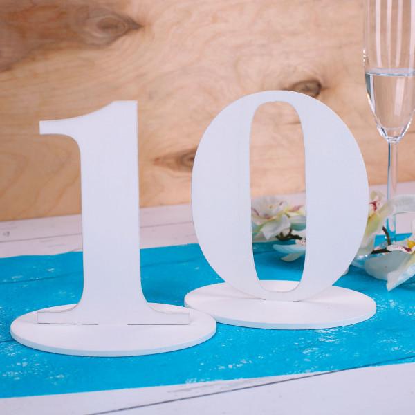 Tischnummer 10 für Geburtstag oder Hochzeit