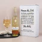 Weinset zur Rente - Nimm dir Zeit - mit Maybachwein und graviertem Glas