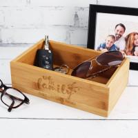 Schlüsselkorb aus Holz - We Are Family