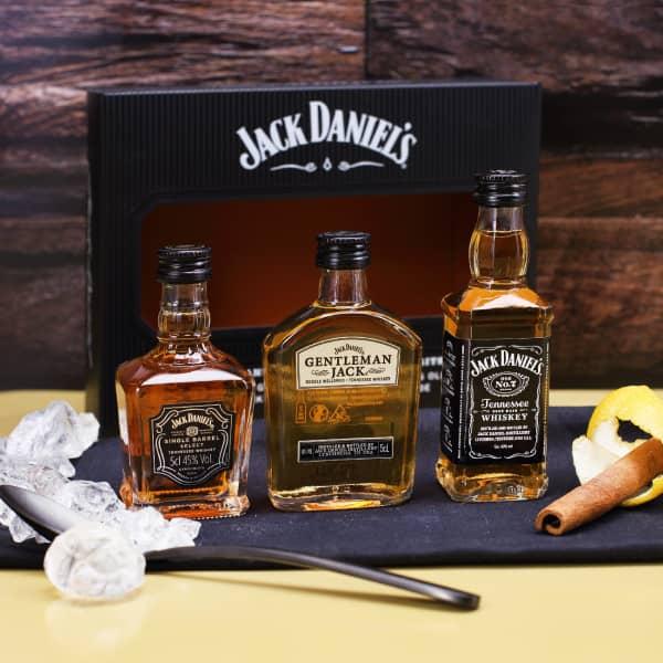 Jack Daniel`s Miniatur-Set mit 3 Whiskyflaschen