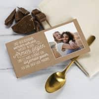 Social Distance Schokolade mit Foto für Wiedersehensfreude