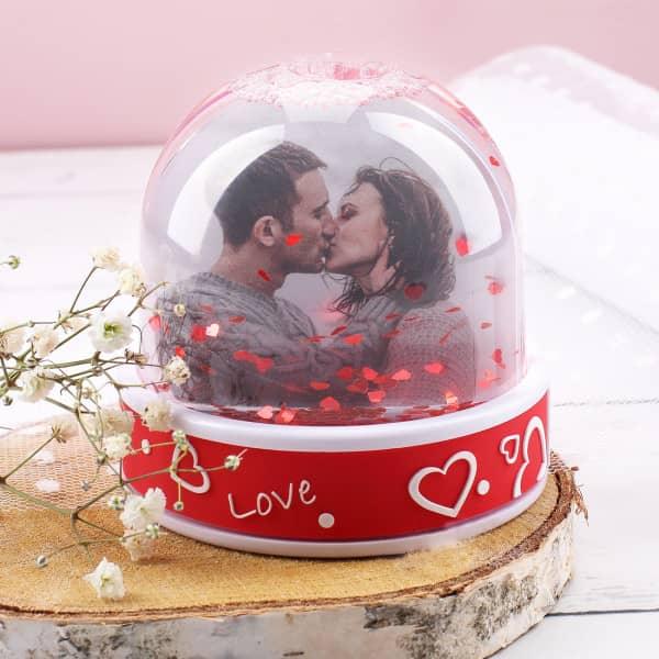 """Schneekugel """"Love"""" mit Ihren zwei Lieblingsfotos"""