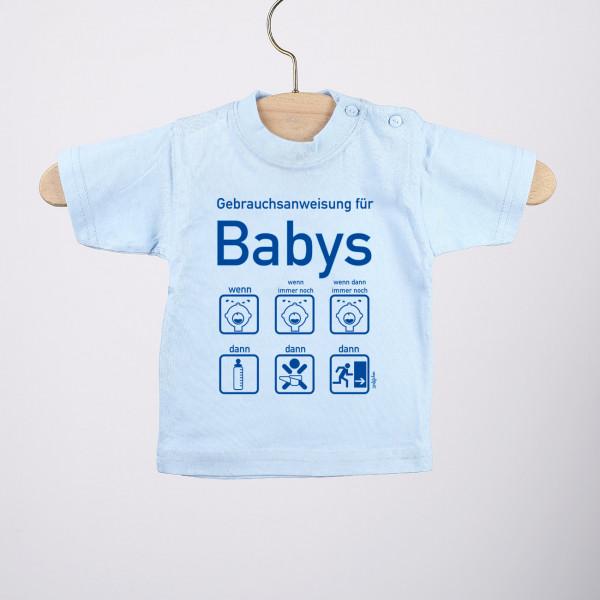 T Shirt mit Gebrauchsanweisung für Baby Jungen