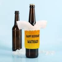 Flaschenkühler aus Neopren - Bier - mit Ihren Wunschtexten