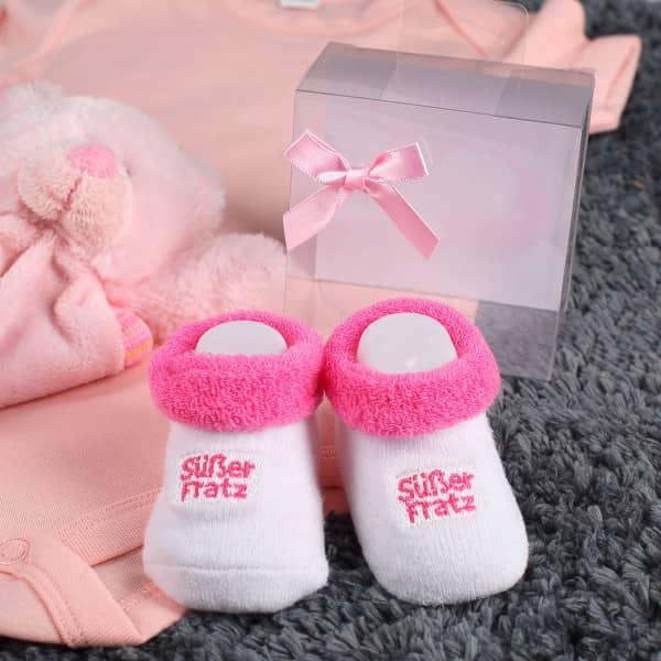 Babys erste Söckchen Süßer Fratz in rosa