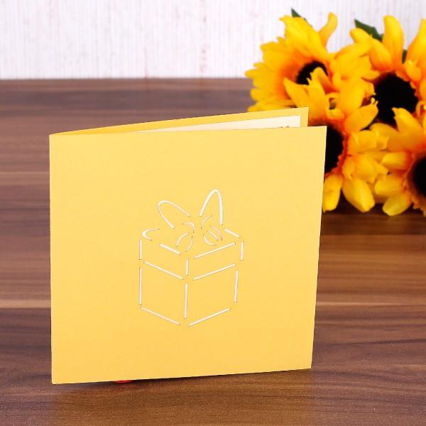 3D-Grußkarte Pop-Up- Geschenk Box
