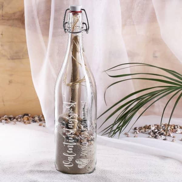 Ausgefallenkleineaufmerksamkeiten - Flaschenpost zum Valentinstag mit Wunschtext - Onlineshop Geschenke online.de