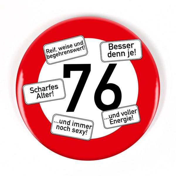 Button zum 76. Geburtstag