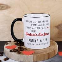 Tasse für Verliebte - mach's flüsterte das Herz