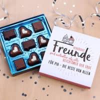 Geschenk für verrückte Freunde - Pralinen mit Wunschtext, 100g Lindt Hello Chocolate Bits