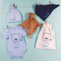 Geschenkset für Jungs zur Geburt mit Teddymotiv