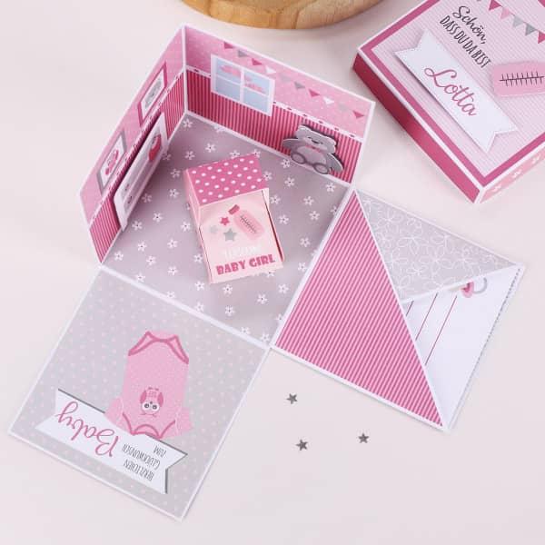 - Überraschungsbox zur Geburt, Babygeschenk für Mädchen - Onlineshop Geschenke online.de