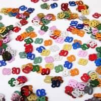 Deko für den Tisch - Zahlenkonfetti 80