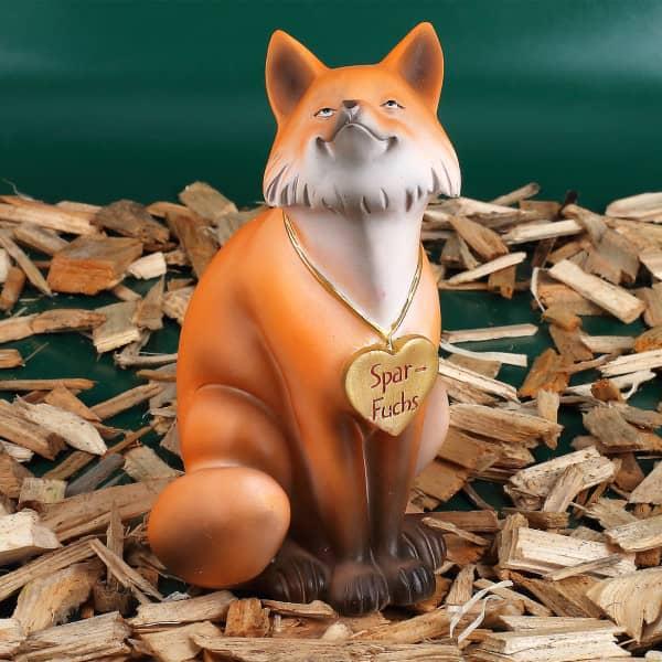 Spar-Fuchs als Spardose