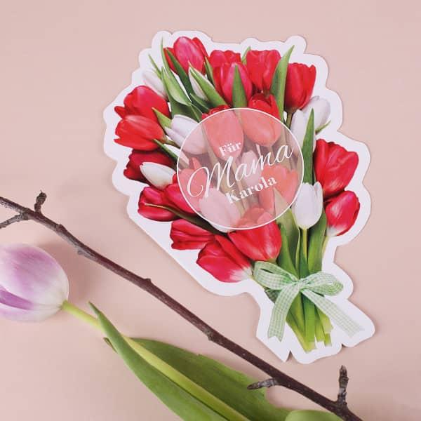 Blumenstrauß-Klappkarte zum Muttertag