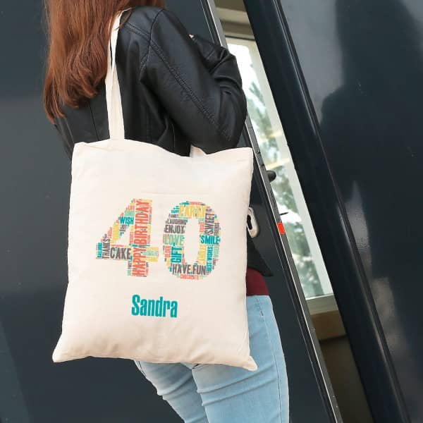 Einkaufsbeutel aus Baumwolle zum 40. Geburtstag