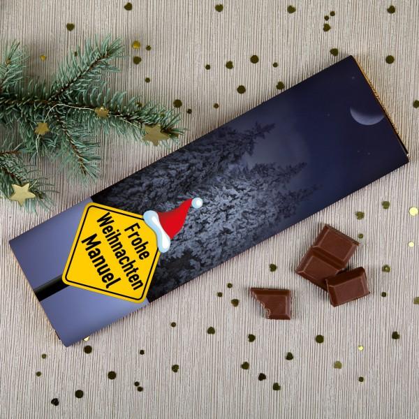 Weihnachtsschokolade mit Wunschnamen