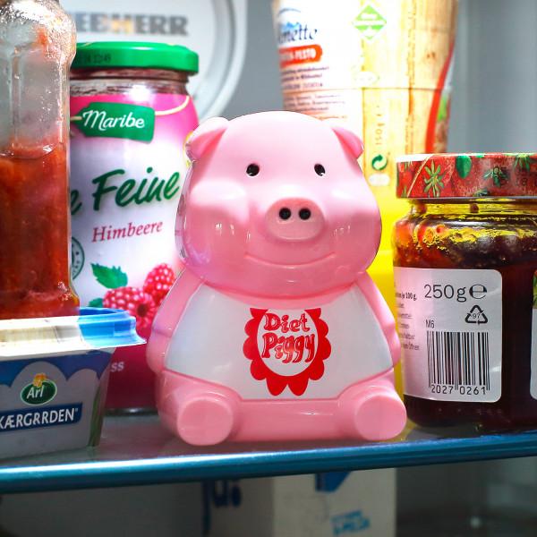 Diätschweinchen für den Kühlschrank mit Sound