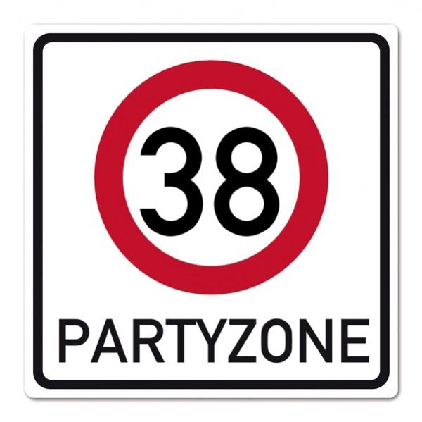 PVC Schild zum 38. Geburtstag