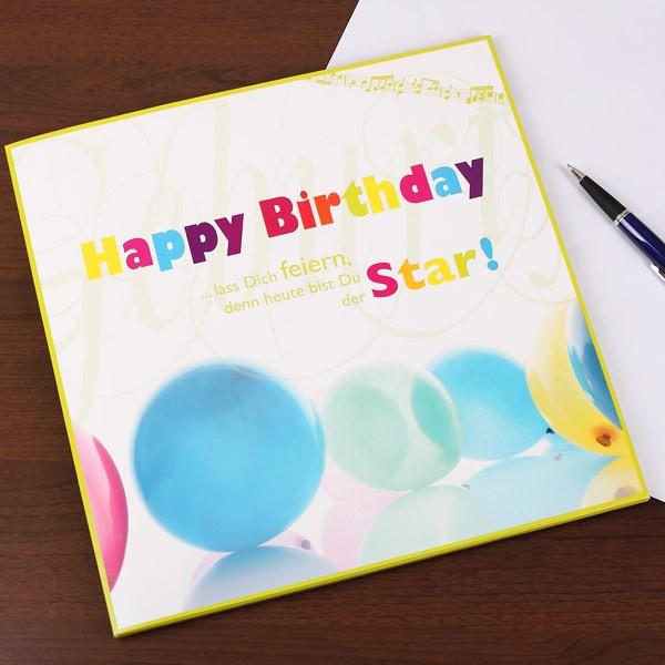 XXL Karte zum Geburtstag - Star