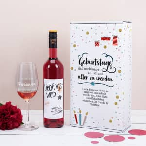 Geschenkset mit Wein zum Geburtstag