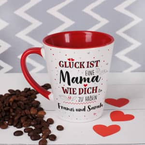 Tasse zum Muttertag mit Text