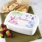 Schmetterlings-Lunchbox mit Ihrem Wunschnamen bedruckt