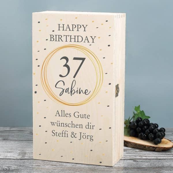 Persönliche Holzbox zum Geburtstag