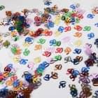 Deko für den Tisch - Zahlenkonfetti 50