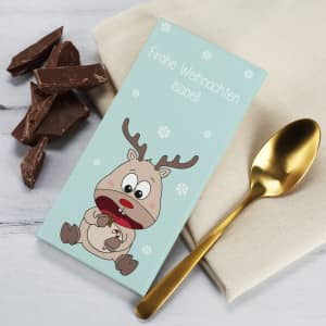Personalisierte Schokolade zu Weihnachten
