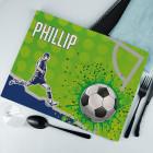 Fußball Platzdeckchen aus Stoff mit Ihrem Wunschnamen bedruckt