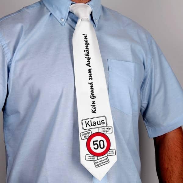 Krawatte zum Geburtstag