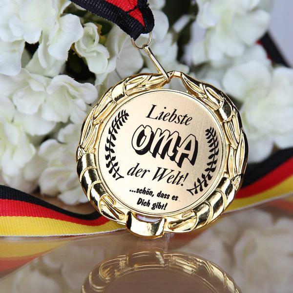 Medaille für die Oma