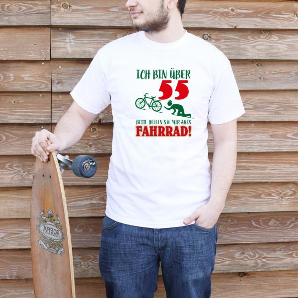 T-Shirt mit lustigem Radfahreraufdruck