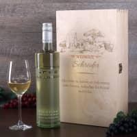Weinset mit Weinglas und Bree Weinflasche Motiv Weingut