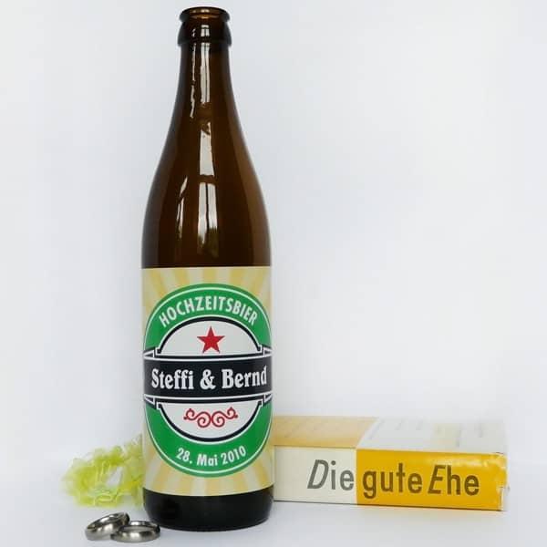 20 Stück Bieraufkleber Hochzeitsbier