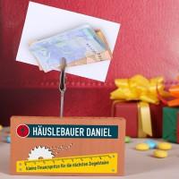 Handwerker- Geldgeschenk mit persönlichem Text