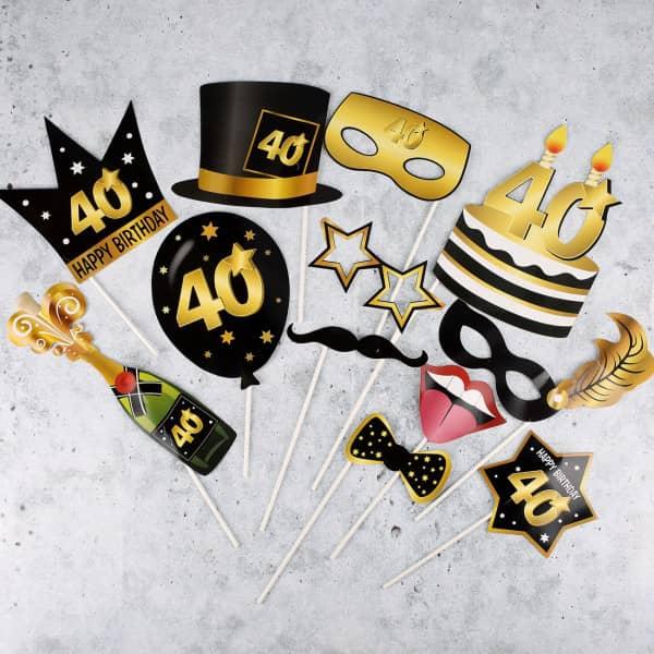 Foto Set Star - Accessoire zum 40. Geburtstag