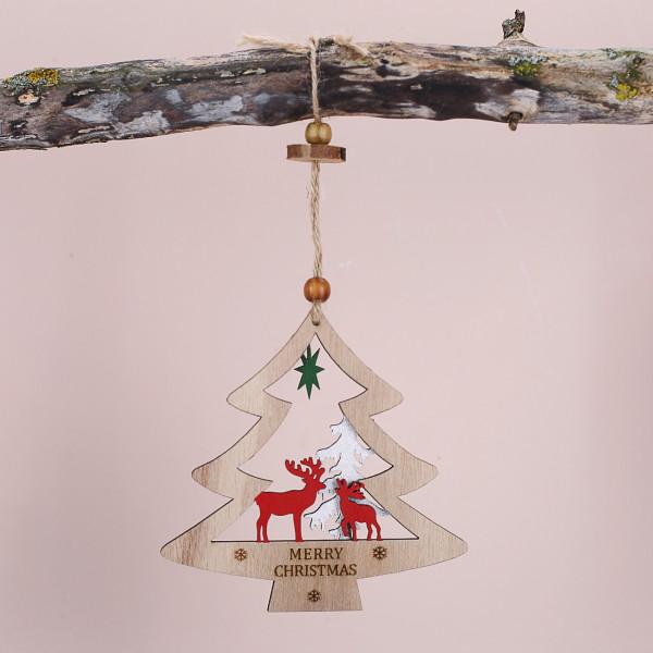 Tannenbaum aus Holz zum aufhängen