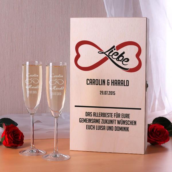 Sektgläser zur Hochzeit in Premium Geschenkverpackung