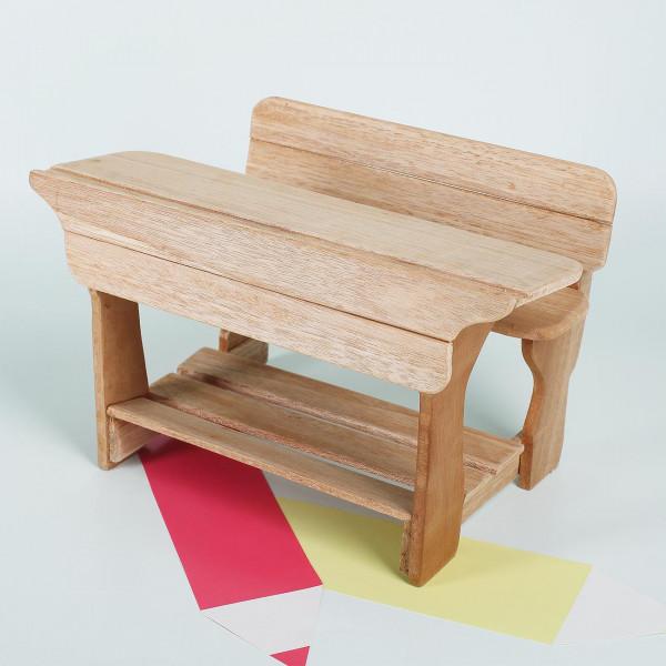 Schulbank aus Holz - 25cm
