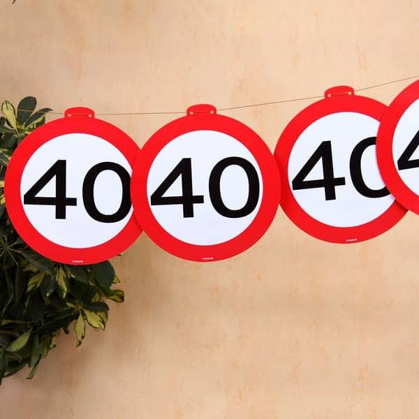 Deko Girlande Verkehrszeichen 40