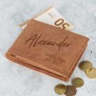 Leder Geldbörse mit Ihrer Wunschgravur